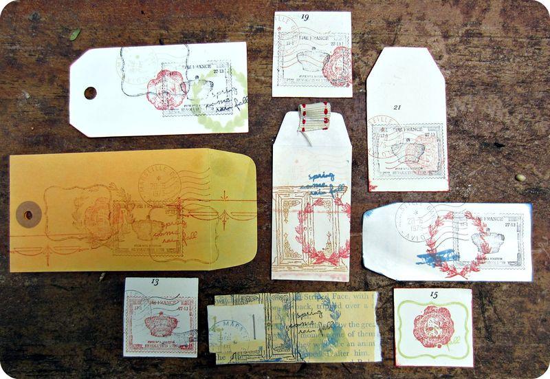 Stamped embellies