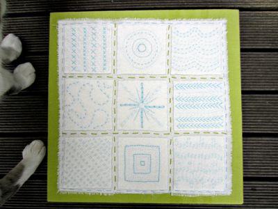 Felt stitch sampler